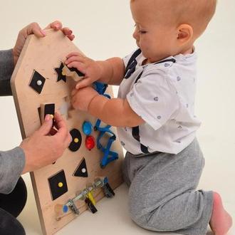 Развивающая доска для ребенка, игрушка из дерева, подарок для малыша