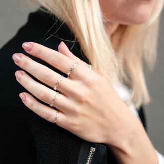 Серебряное кольцо корона