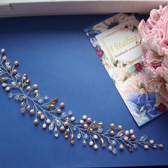Свадебное украшение для волос, украшение на выпускной, украшение для невесты, гребень в прическу