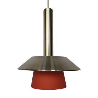 Светильник потолочный, 1х40 Вт,Е14.арт.9224/1R, плафон померанчовий, сталь.