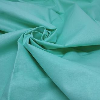 Ткань хлопок для рукоделия зеленая мята