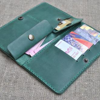 Качественное кожаное портмоне ручной работы K14-350