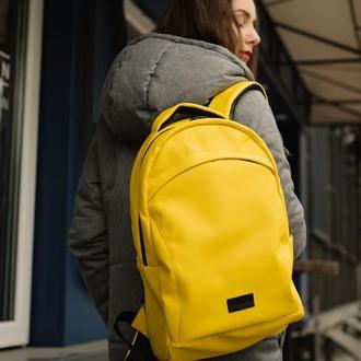 Женский большой желтый рюкзак для ноутбука