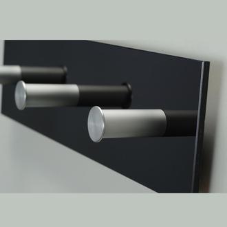 Вешалка настенная металл+стекло, Скло+Глас