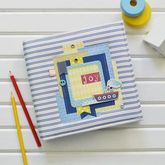 Альбом для новорожденного, беби-бук в морском стиле, яркий детский альбом для мальчика