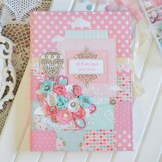 Беби-бук для девочки, фотоальбом для малышки, альбом для новорожденной, фотобук