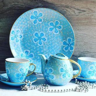 Чайный сервиз Небесное кантри