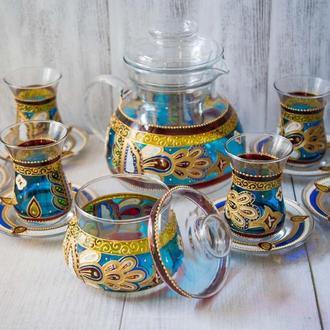 Армуды, заварник, сахарница для турецкого чаепития