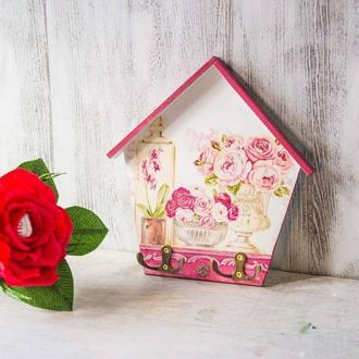 Ключница домик в стиле прованс
