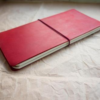 Блокнот ручной работы The Wanderer Retro Red