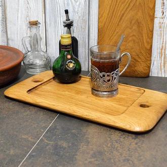 Доска-поднос, поднос из дерева, поднос для кофе, доска серировочная, доска кухонная, доска из дерева