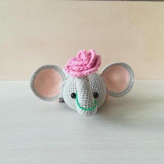 Сувенир слон с цветком