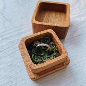 Шкатулка для кольца из дуба