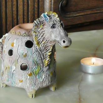 Аромалампа лошадка подарок для дома