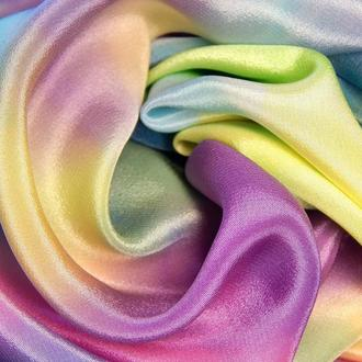 """Шелковый шарф """"Весенняя акварель"""""""