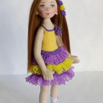 текстильная кукла.Текстильная кукла для девочки.Интерьерная кукла.Кукла в подарок.