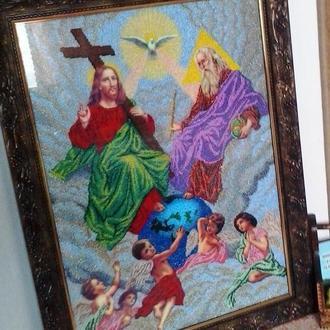 Иконы и картины вышитые бисером или крестиком