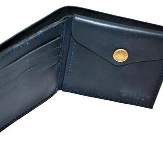 Мужской кошелек с карманом на кнопке