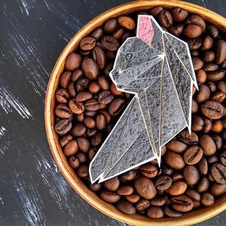 Брошка Сіра Кішка, брошка кошка ( будь-який колір на замовлення )