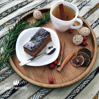 Дерев'яна тарілка, Тарелка из дуба, Деревяная тарелка