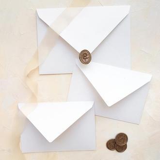 Белый конверт 12х18 см