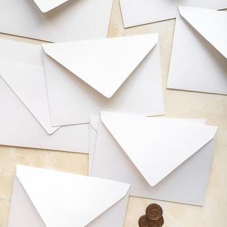 Белый маленький конверт 8х11 см