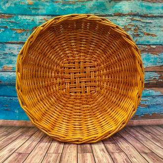 Тарелка плетеная