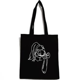 Эко-сумка шоппер «Девушка с бокалом вина»