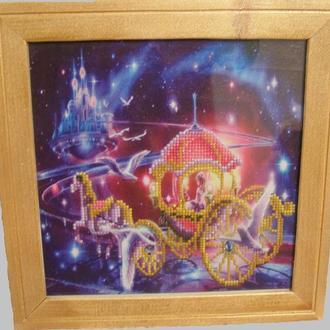 Картина «Золушка». Алмазная вышивка