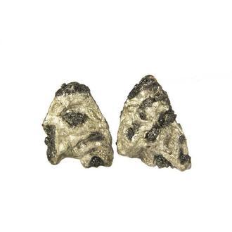 Серьги с натуральными камнями пиритами