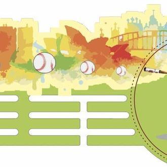 Вешалка для медалей ( бейсбол) с ультрафиолетовой печатью из Еко-фанеры для настоящих чемпионов