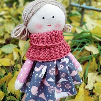 Текстильная кукла с одеждой купить Украина Первая кукла для ребенка Кукла для малыша Кукла из хлопка
