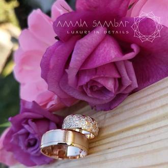 Обручальные кольца на заказ с бриллиантами из золота 585 и 750 пробы