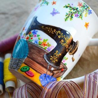 Чашка для рукодельницы