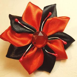 "Резинка для волос ""Red flower"""
