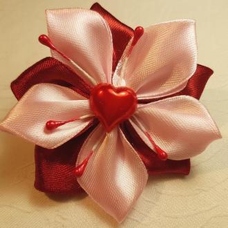"""Резинка для волос """"Pink and red"""""""