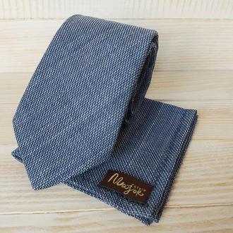 Синий галстук и платок Паше