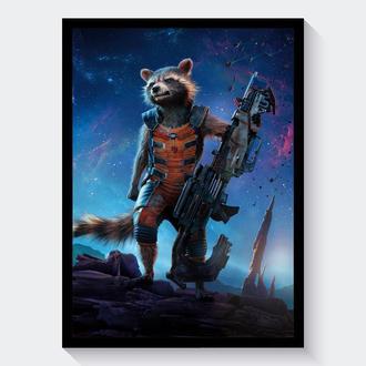 Постер Стражи Галактики / Guardians of the Galaxy Реактивный Енот (Rocket Raccoon)