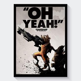 Постер Стражи Галактики / Guardians of the Galaxy (Реактивный Енот и Грут)