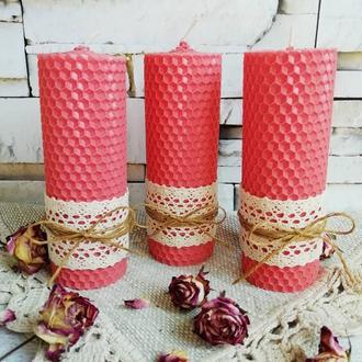 Розовые аромасвечи