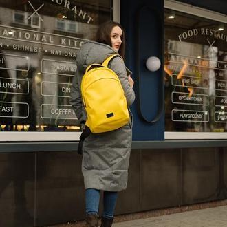 Женский большой желтый рюкзак