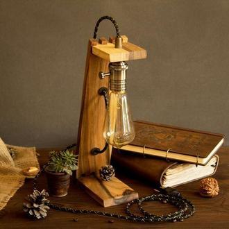 Деревянная настольная лампа «Лампа Эдисона»
