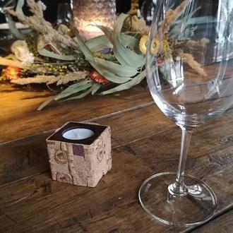 Свеча из пробки \ Декоративная свеча ручной работы \ Эксклюзивный винный декор