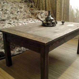 """Кофейный столик ручной работы """"Лесная история"""""""