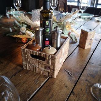 Ящик для специй \ Ящик для вина \ Декоративный ящик ручной работы из винной пробки.