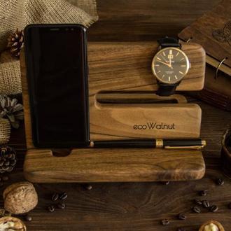 Органайзер деревянный Подставка Деревянная для телефона ключей для мужчин и женщин