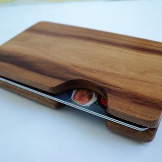 картхолдер деревянный премиум