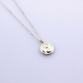 Серебряное колье Инь Янь