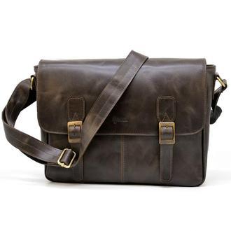 Кожаная сумка через плечо для ноутбука и документов TC-7022-3md TARWA