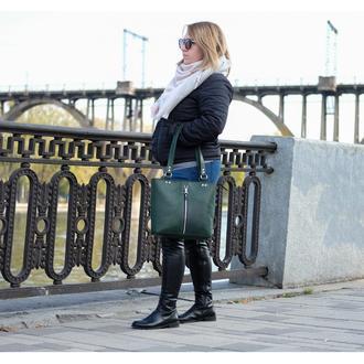 Женский кожаный шопер - tote